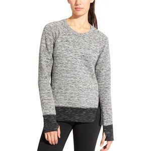 Athleta R&R Marled Gray Zipper Sweatshirt T485